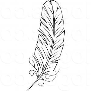 Tribal feather clipart black and white jpg black and white download Tribal Feathers Vector Png | SOIDERGI jpg black and white download