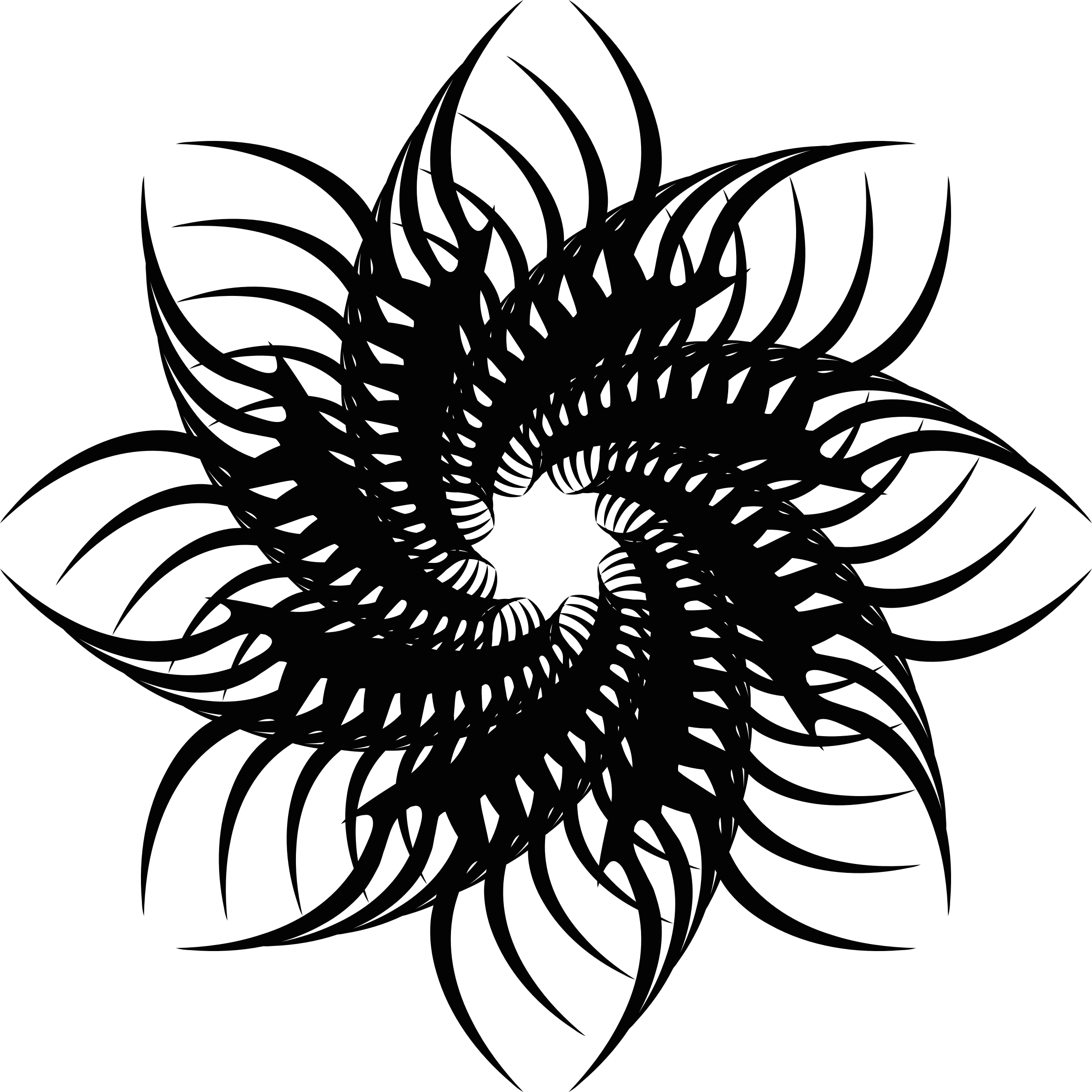 Tribal flower clipart png transparent library Clipart - Tribal Flower 3 png transparent library
