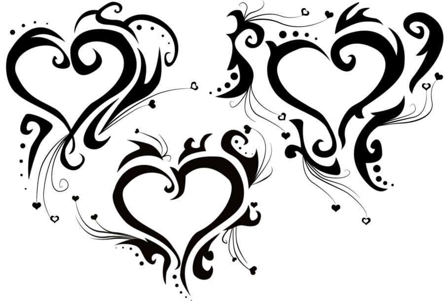 Download Heart Tattoo Tribal | danesharacmc.com banner royalty free library