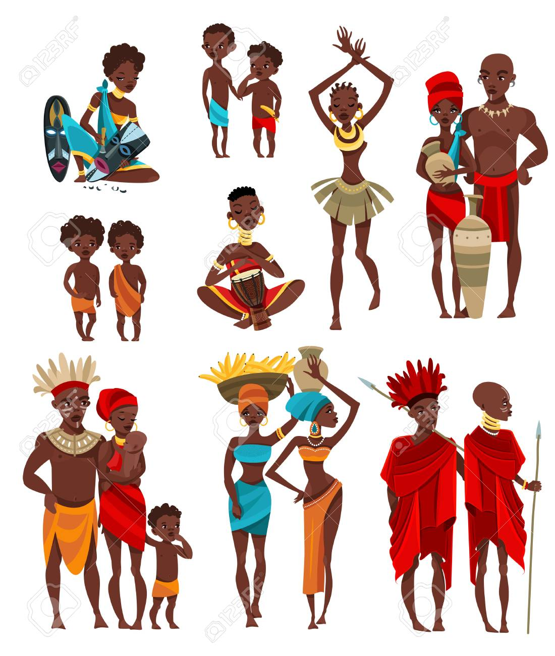 Tribal people clipart clip black and white library Tribal People Cliparts - Making-The-Web.com clip black and white library