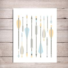 Tribal print arrow clipart clipart royalty free download Professional Tribal Arrows Clipart & Vectors in Mint and Coral ... clipart royalty free download