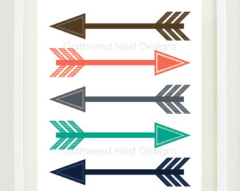 Tribal print arrow clipart picture royalty free download Arrow tribal art – Etsy picture royalty free download