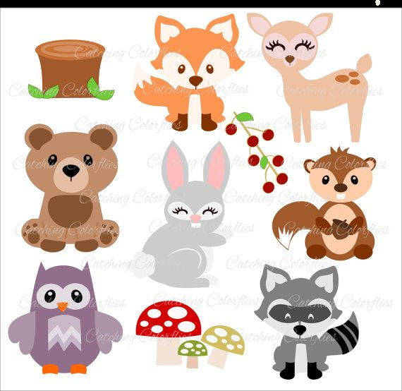 Tribal woodland animal clipart free printable svg free picture black and white Baby Woodland Animal Cut Files, Woodland Nursery Decor, HTV ... picture black and white