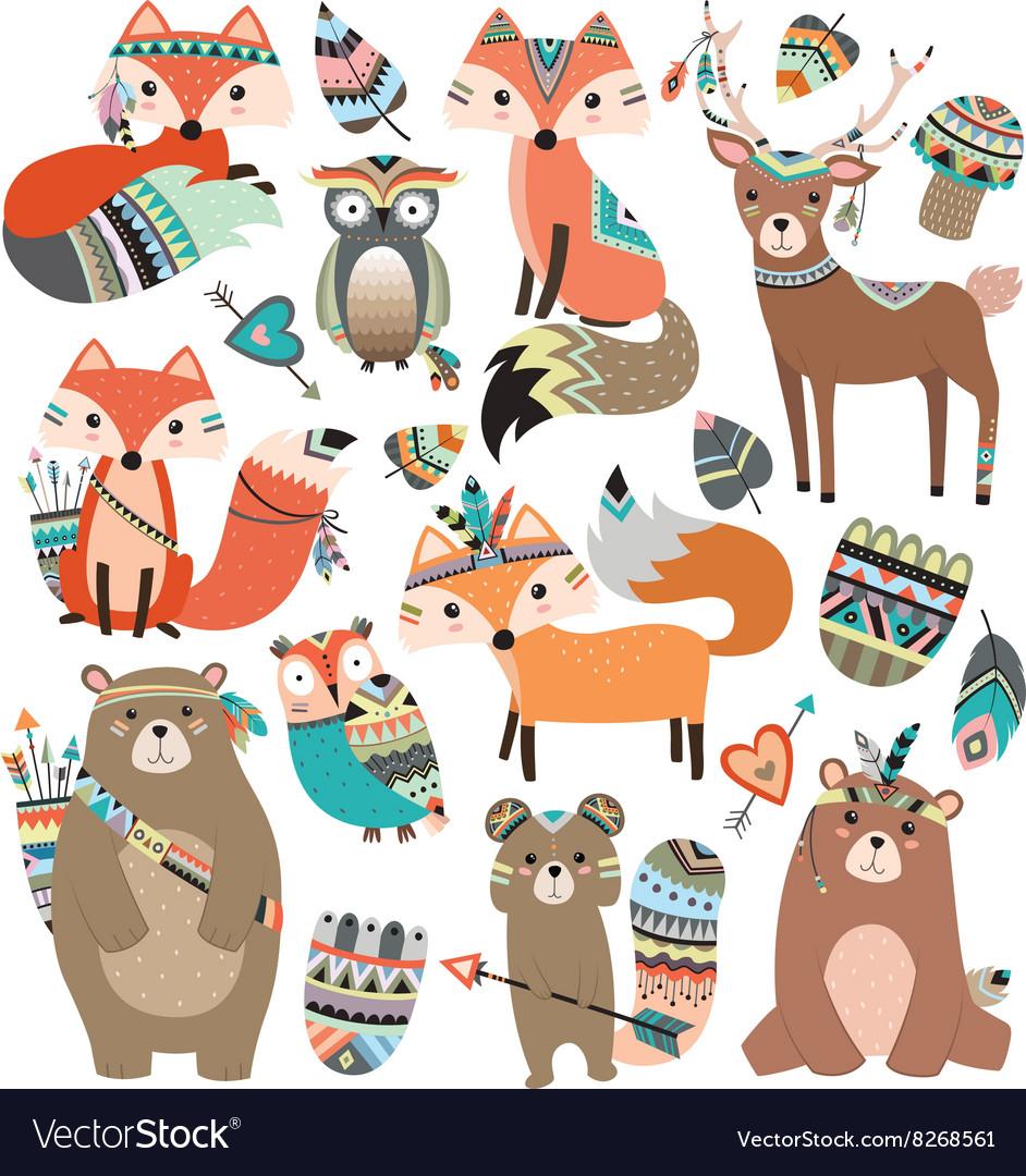 Tribal woodland animals clipart svg stock Woodland Tribal Animals Volume 2 svg stock