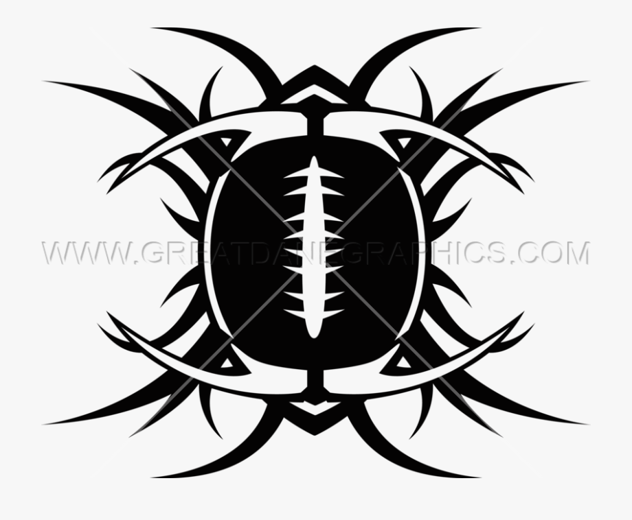 Tribal Football - Emblem #1985035 - Free Cliparts on ClipartWiki png black and white download