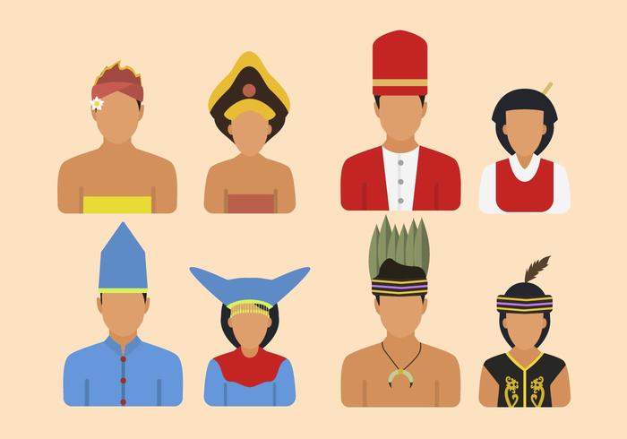 Flat Indonesia Tribe Vectors - Download Free Vectors ... clip free stock