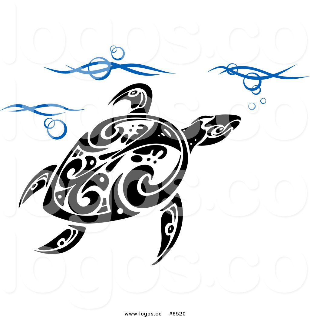 Royalty Free Clip Art Vector Logo of a Tribal Sea Turtle ... svg library download
