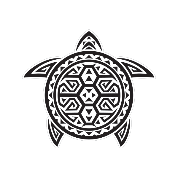 Printed vinyl Turtle Tribal Surf Style | Stickers Factory graphic free download