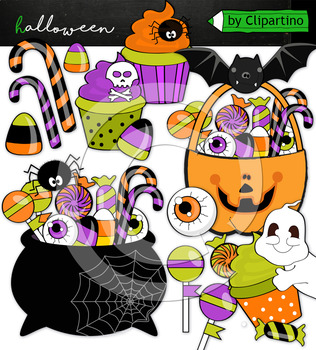 Trick or treat candy clipart vector library stock Trick or treat candy clipart vector library stock