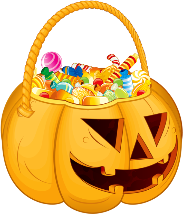 Trick or treat candy clipart graphic library stock HD Trunk Or Treat Candy Clipart - Pumpkin Filled With Candy ... graphic library stock