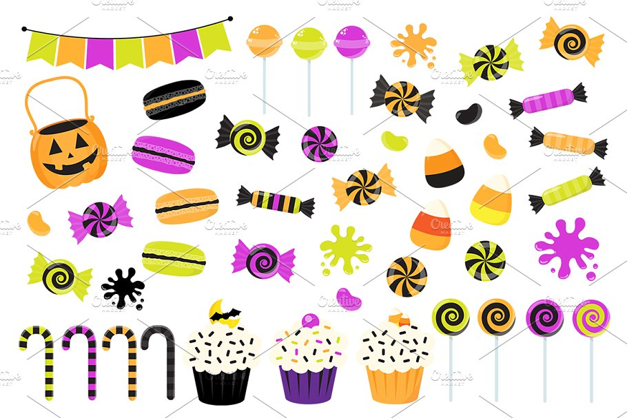 Trick or treat candy clipart banner free stock Halloween Candy Clipart banner free stock