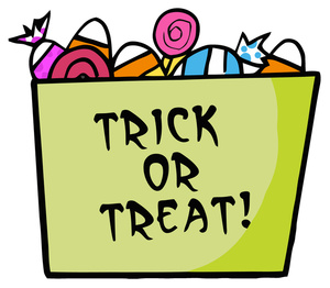 Trick Or Treat Cartoon Clipart Image - Halloween Candy in a ... clip freeuse