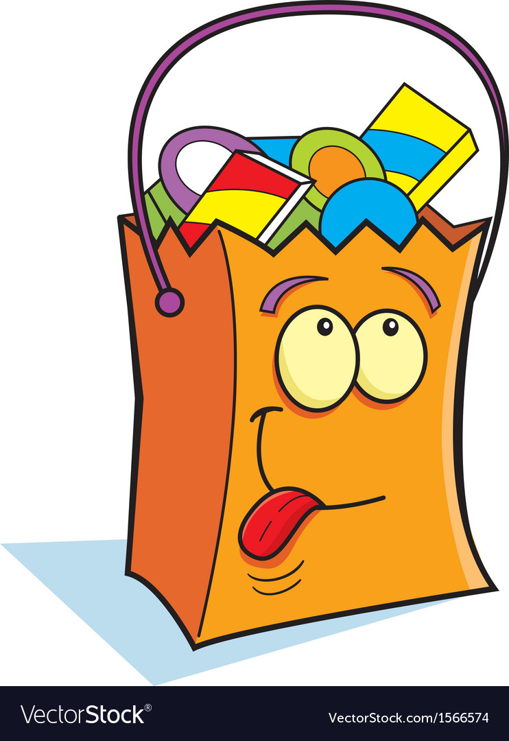 Cartoon Trick or Treat Bag clipart royalty free stock