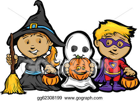 EPS Vector - Cartoon vector image of a happy halloween ... clip stock