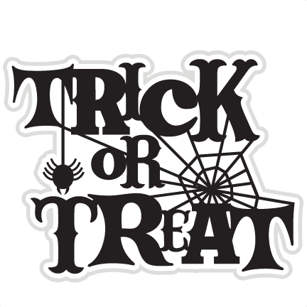Trick or treat free clipart banner black and white library Halloween PNG Images Transparent Free Download | PNGMart.com banner black and white library