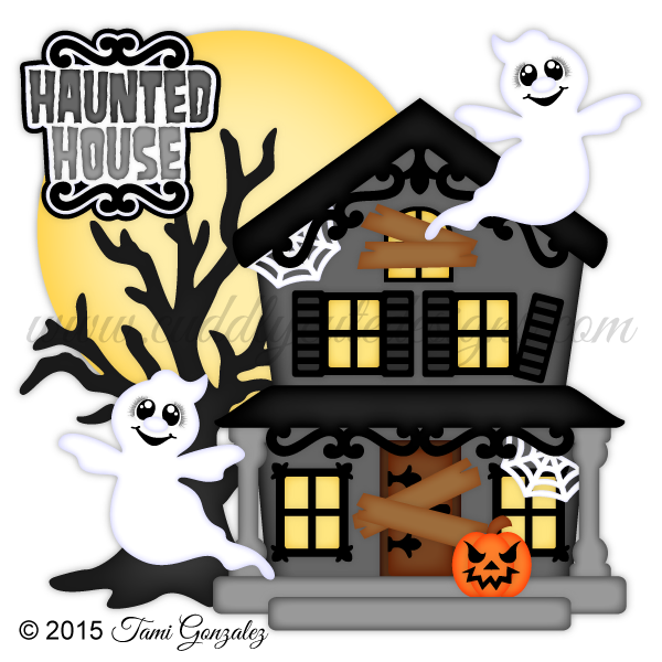Trick or treat house clipart picture black and white download Haunted House | Clipart Little Kids Halloween | Pinterest | Haunted ... picture black and white download