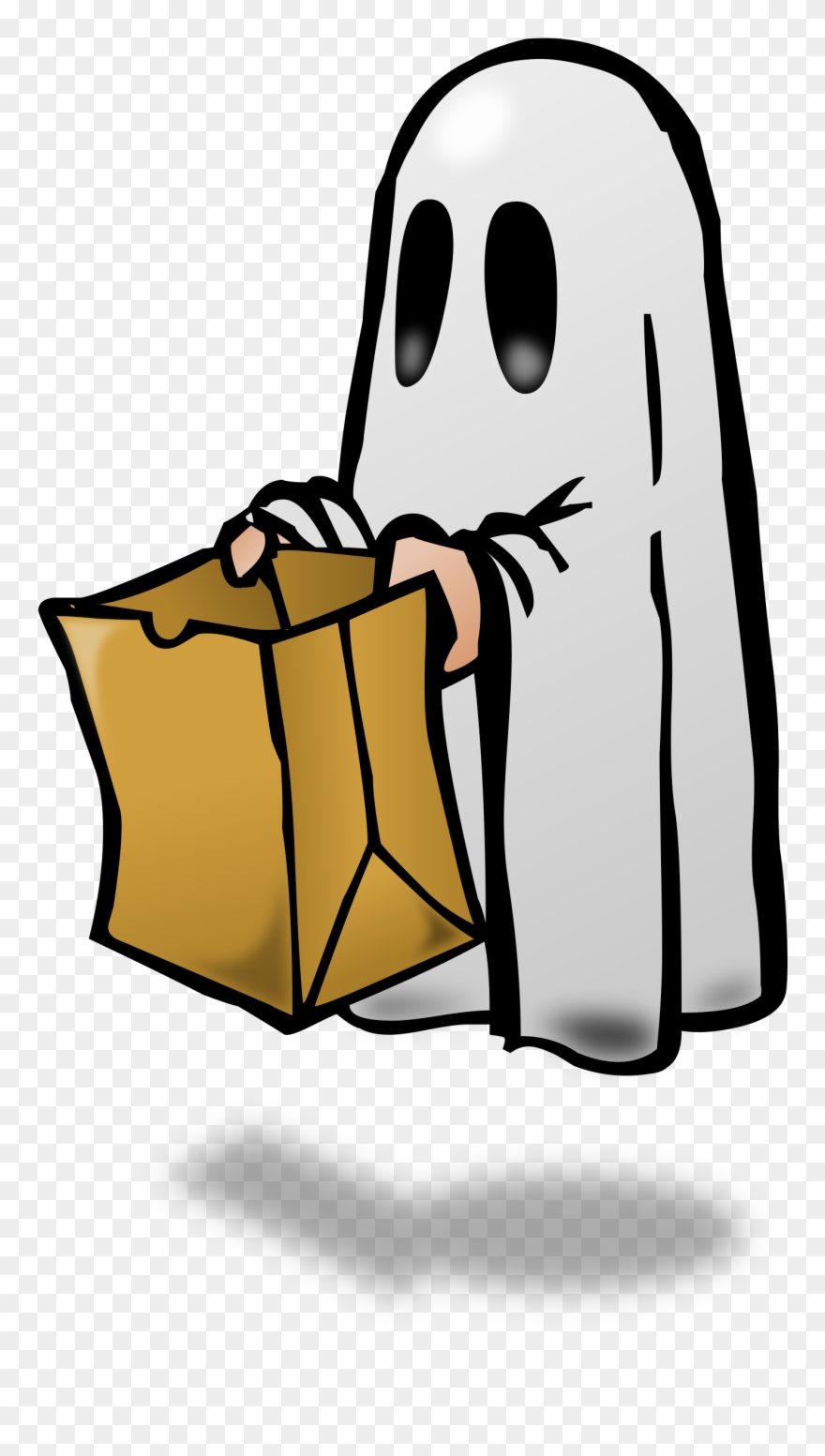 Trick Or Treat - Ghost Trick Or Treating Clipart (#155782 ... clipart freeuse
