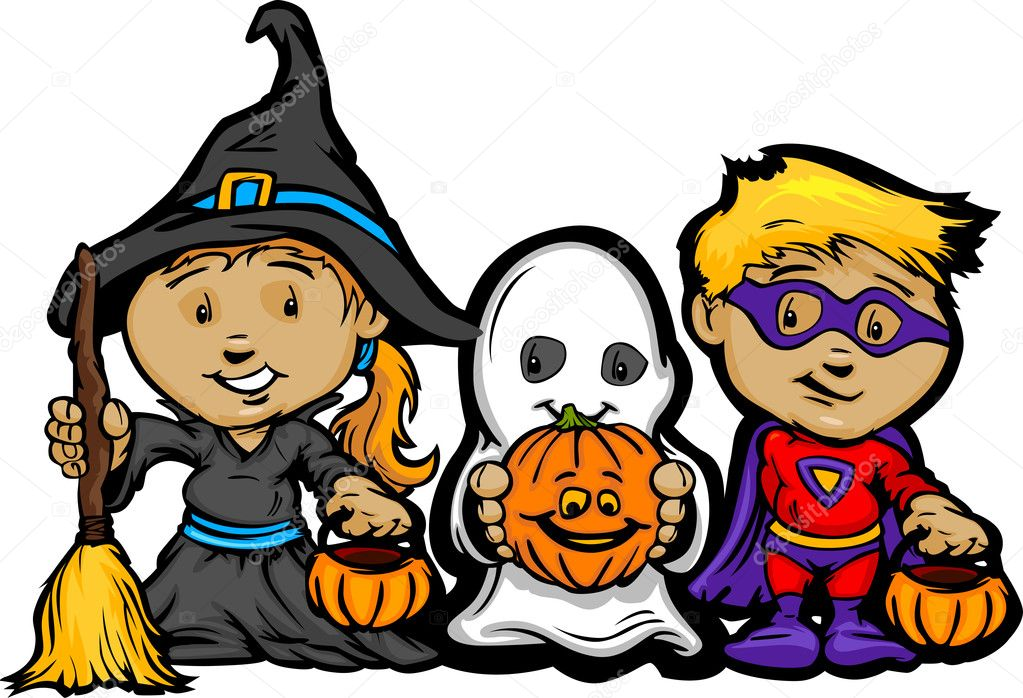 Trick or treating clipart 3 » Clipart Station clip freeuse download
