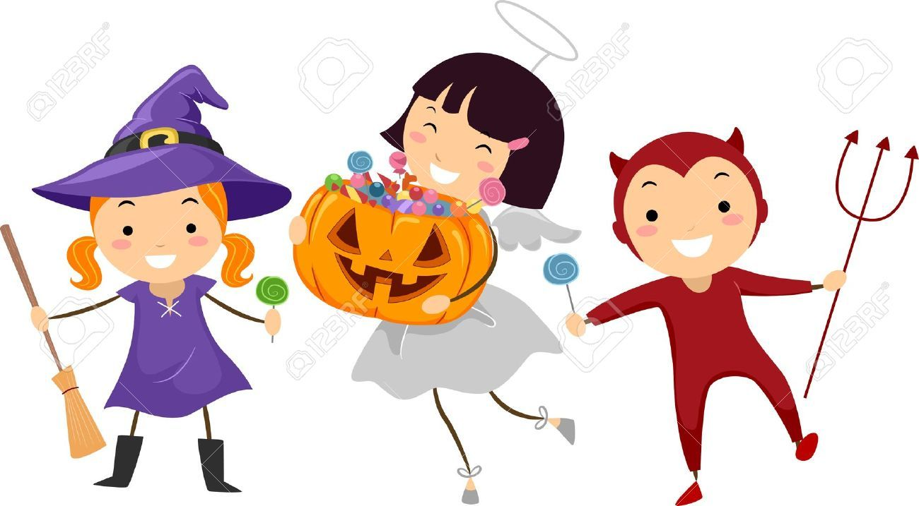Kids trick or treating clipart 8 » Clipart Portal clipart