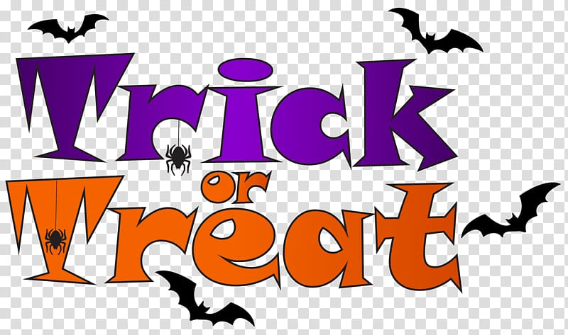 Trick treat clipart svg freeuse download Blue background with text overlay, Trick-or-treating Knott ... svg freeuse download