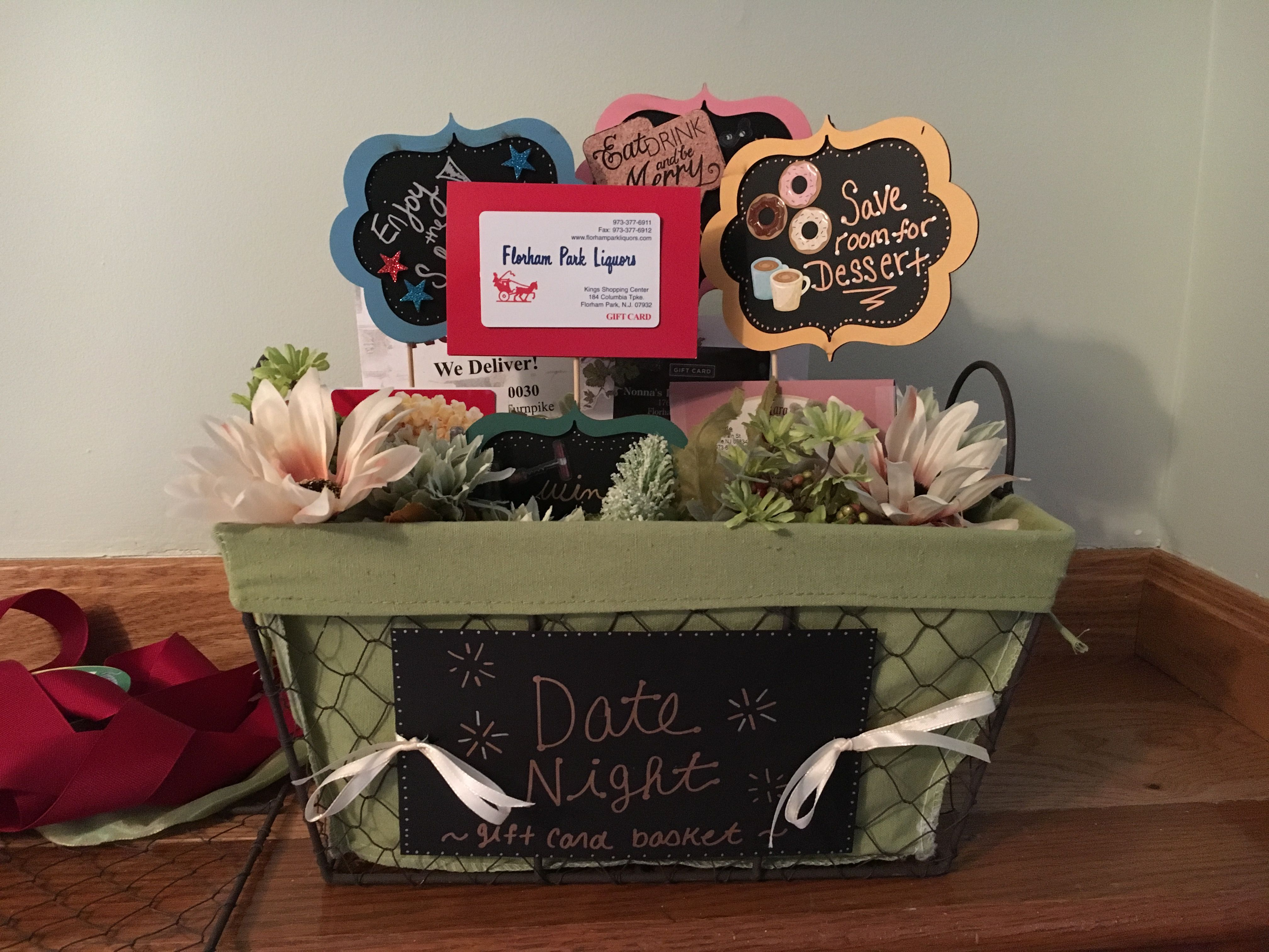 Tricky tray basket. Cute idea for a date night with dinner ... banner freeuse library