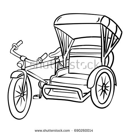 Tricycle black and white clipart 1 » Clipart Station png