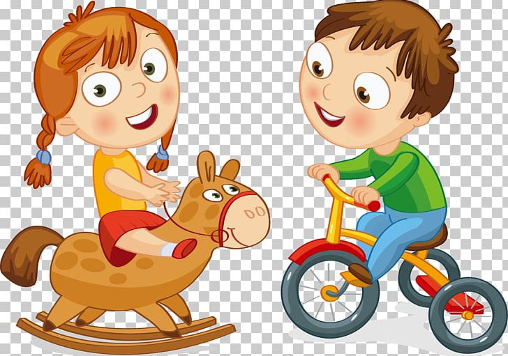 Tricylces and play cars clipart
