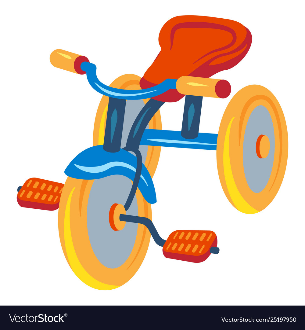 Tricylces and play cars clipart graphic download Child tricycle icon cartoon style graphic download