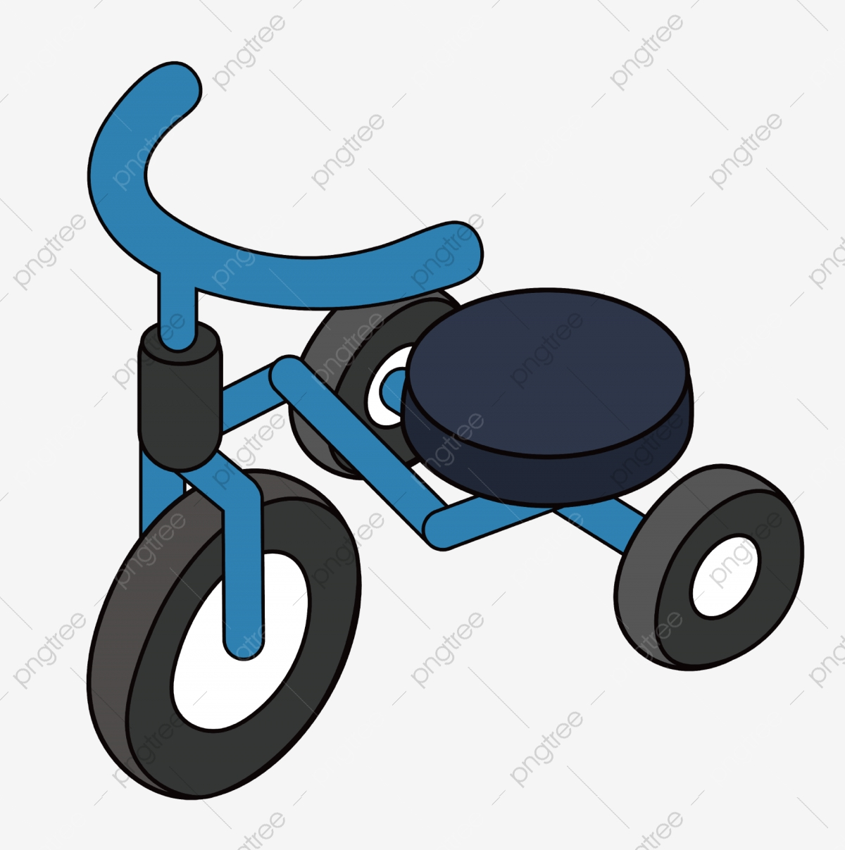 Childrens Tricycle Illustration Three Wheeled Toy Car Blue ... clip art free library