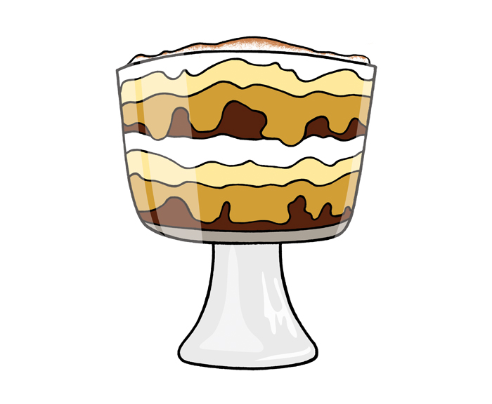 Trifles clipart picture library download Brownie Tiramisu Trifle picture library download
