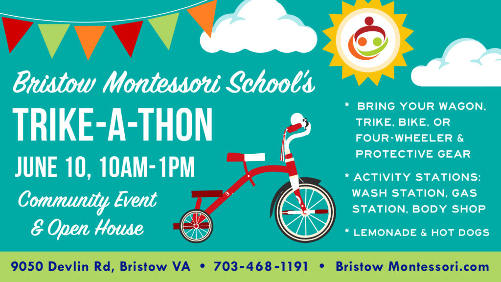 Trike-A-Thon and Open House - Bristow Montessori School black and white library