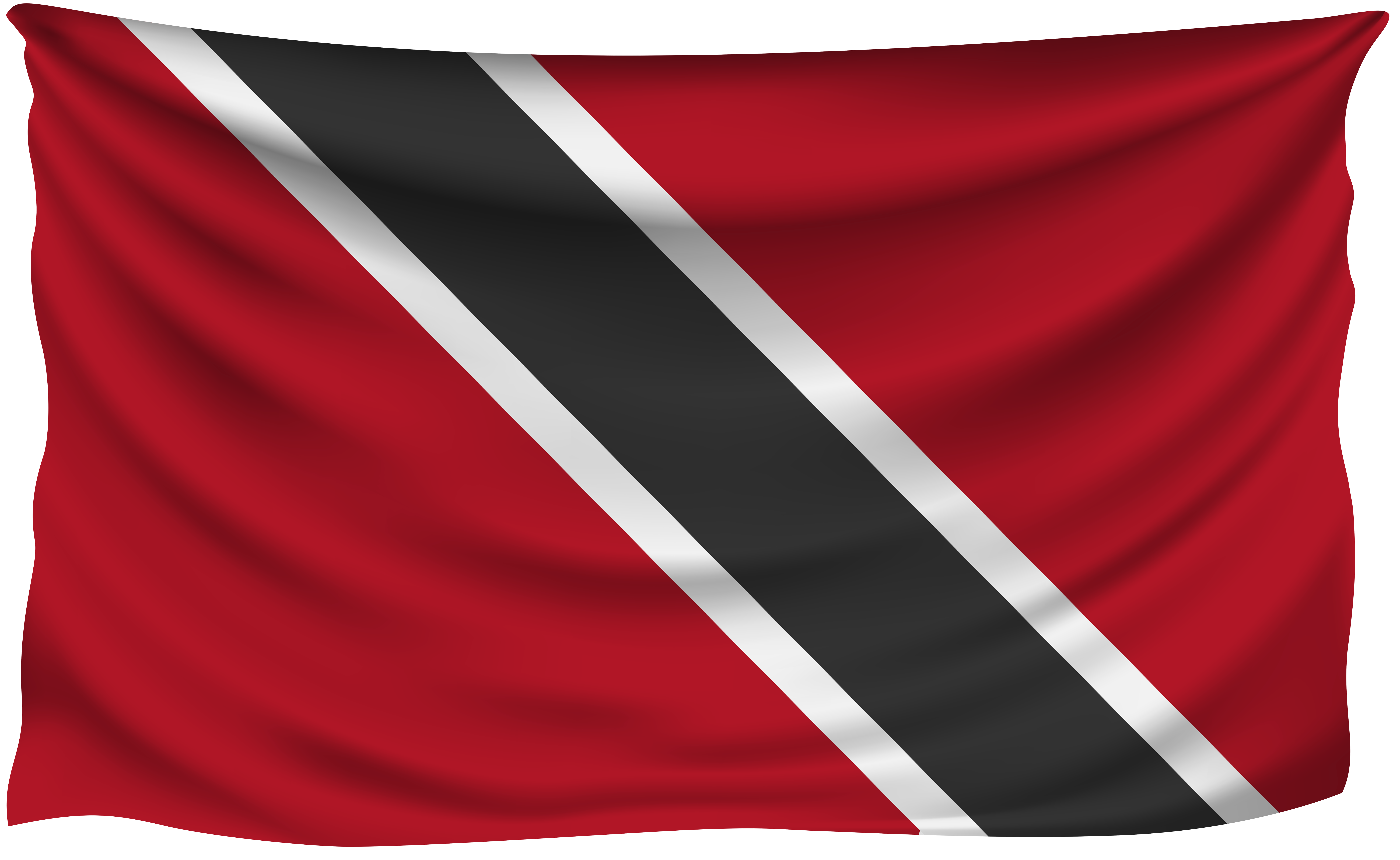 Trinidad clipart picture transparent library Trinidad and Tobago Wrinkled Flag | Gallery Yopriceville ... picture transparent library