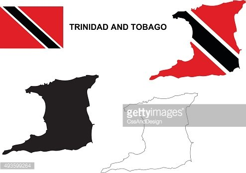 Tobago clipart banner transparent library Trinidad and Tobago Map Vector, Trinidad and Tobago Flag ... banner transparent library