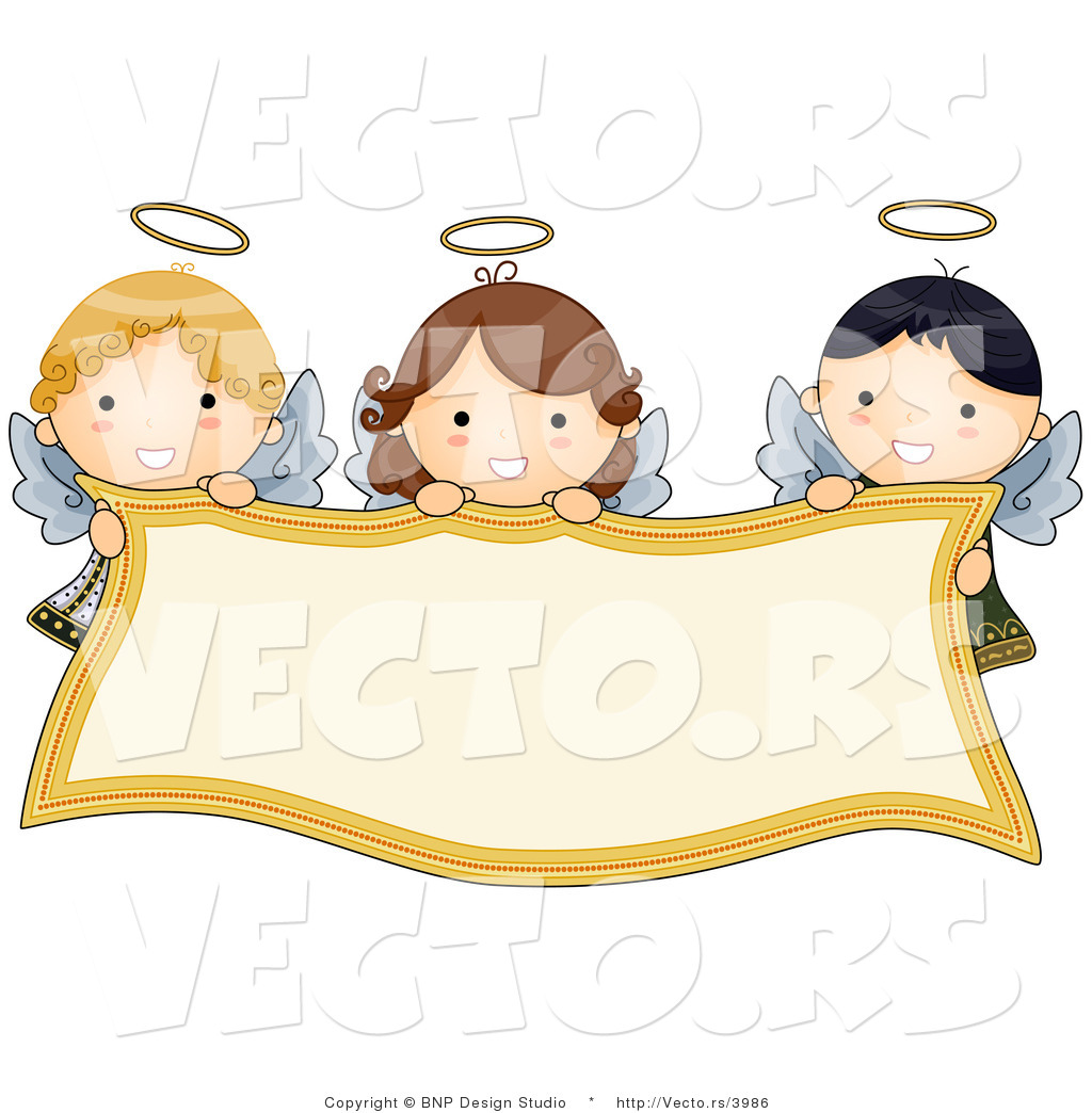 Trio of child angels clipart royalty free Pictures Of Cartoon Angels Group with 70+ items royalty free