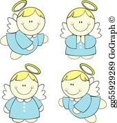 Trio of child angels clipart picture transparent stock Angels Clip Art - Royalty Free - GoGraph picture transparent stock