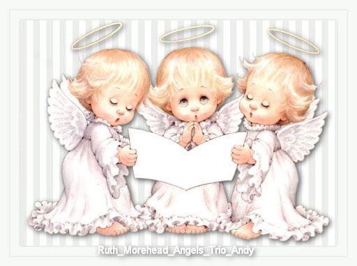 Trio of child angels clipart vector download Ruth Morehead Angels Clip Art | ANGELITO BABY | Angel, Cute ... vector download