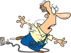Trip over clipart image transparent download A Colorful Cartoon of a Man Tripping Over an Electrical Cord ... image transparent download