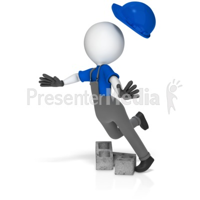 Trip over clipart freeuse library Worker Trip Over Cinder Blocks - 3D Figures - Great Clipart ... freeuse library