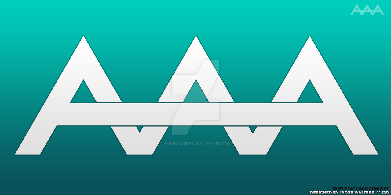 Triple a vector transparent library Triple A Logo Concept by JakeWalters on DeviantArt vector transparent library