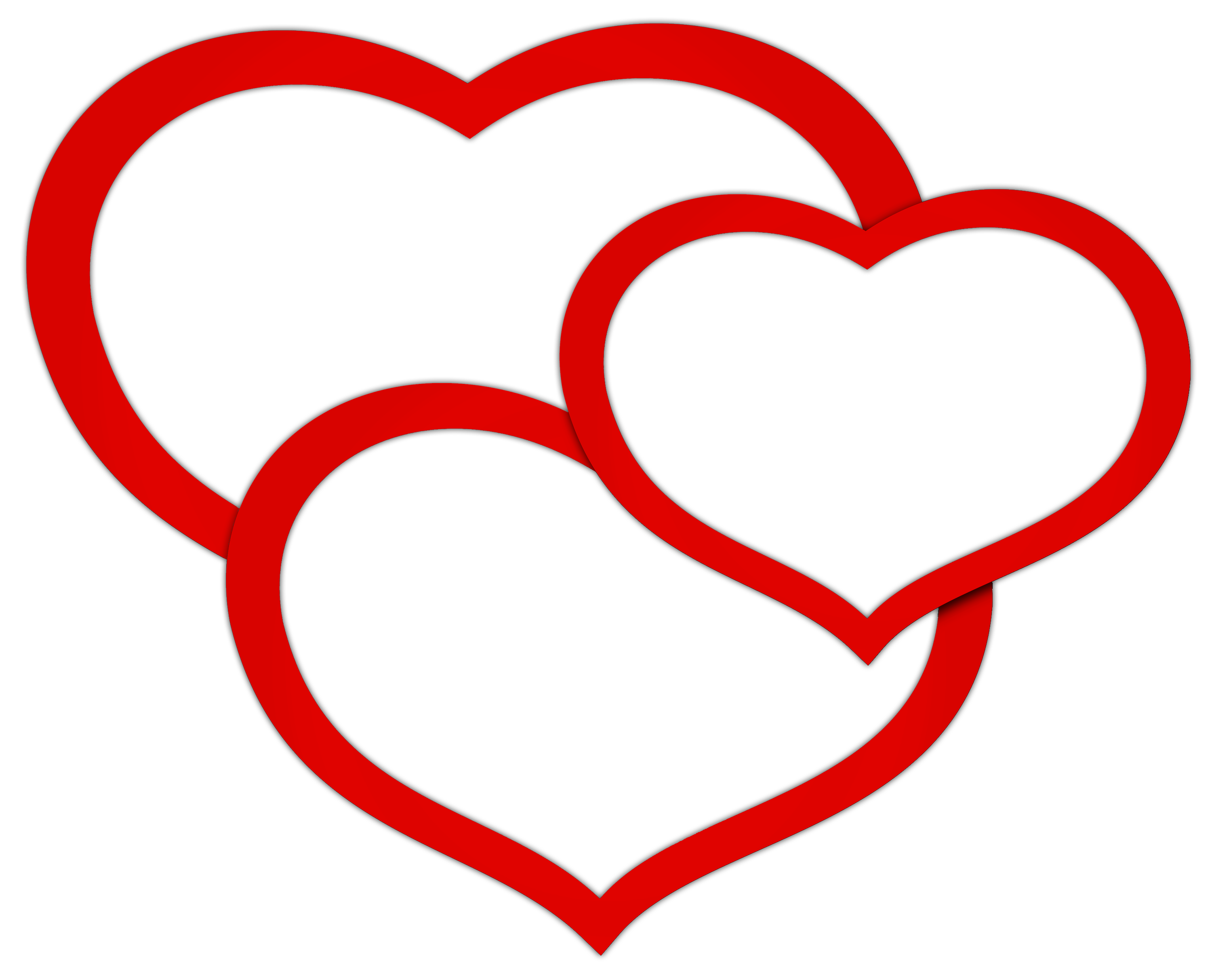 Triple clipart image library download Transparent Red Triple Hearts PNG Clipart Picture | Gallery ... image library download