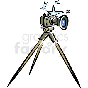Tripod camera clipart banner library download A Camera Sitting on A Tripod with Stars around the Top clipart.  Royalty-free clipart # 156279 banner library download