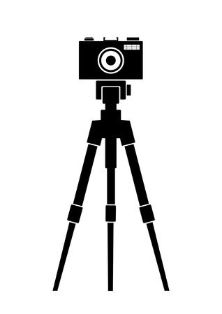 Tripod Cliparts - Making-The-Web.com graphic black and white library
