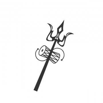 Shiva Trishul Png, Vector, PSD, and Clipart With Transparent ... jpg black and white stock