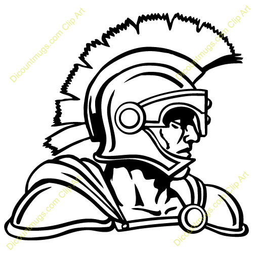 Trojan clipart picture black and white download Trojan Football Clip Art | Clipart 14799 trojan - trojan ... picture black and white download