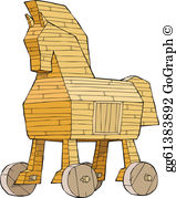 Trojan horse clipart free png free library Trojan Horse Clip Art - Royalty Free - GoGraph png free library
