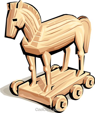 Trojan horse clipart free clip free Trojan Horse Royalty Free Vector Clip Art illustration ... clip free