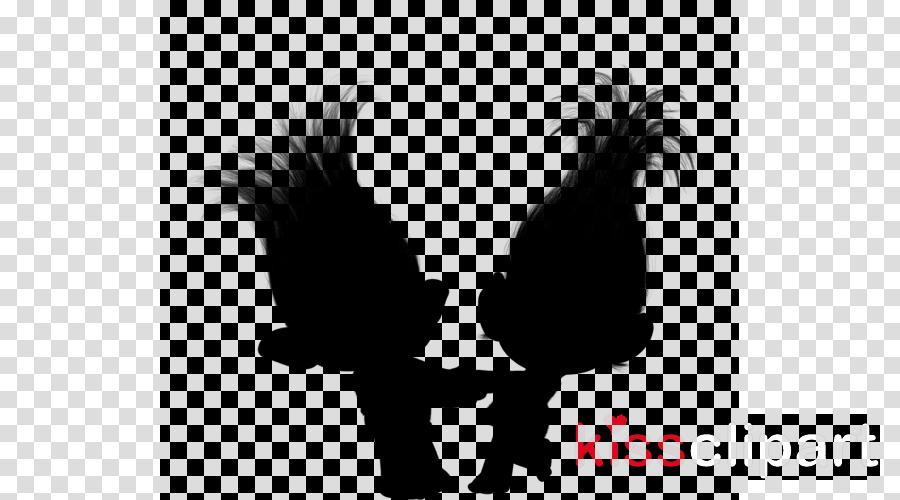 Troll doll black and white clipart silluette png black and white Love Silhouette clipart - Rooster, Silhouette, Chicken ... png black and white