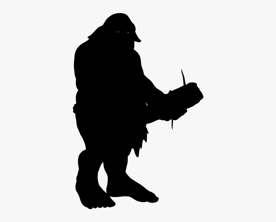 Troll silhouette clipart graphic free stock Silhouette Troll Ork Fighter Warrior Club Fantasy - Troll ... graphic free stock