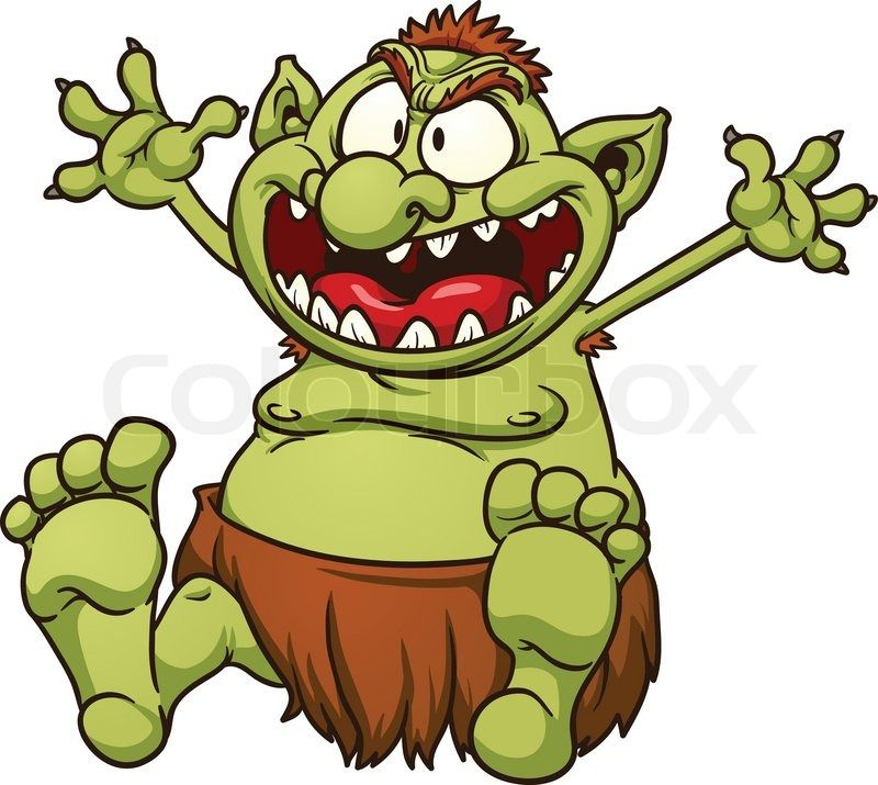 Troll halloween clipart graphic library Stock Vector Of Fat Cartoon Troll Illustration With clipart ... graphic library