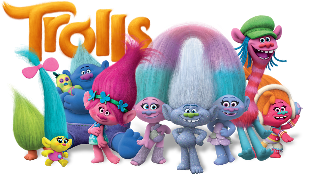 Trolls flower clipart vector free library Trolls | Movie fanart | fanart.tv vector free library